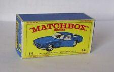 Repro Box Matchbox 1:75 Nr.14 Iso Grifo dunkelblau
