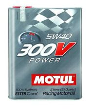 "Motul 300V New Ester Core 5W40 ""Power"" Oil, 2L (2.1 qt.)"