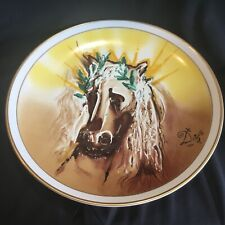"Rare Salvador Dali Limited Edition Large 16"" Ceramic Wall Hanging Charger Horse"