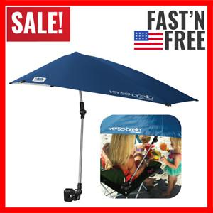Umbrella Beach Chair Clamp On Stroller Shade Sun Block Camping Tent Canopy Blue
