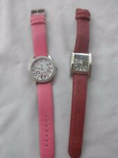 LOT OF 2 LADIES WATCHES *ACTIVA+ LCD PINK & RED STRAP BOTH HAVE A NEW BATTERY *