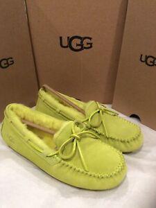 New In Box UGG Dakota Slph Suede Moccasin/slipper Sheerling Wool Women's Size 7