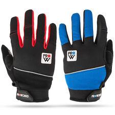 Proworks Full Finger Mens Ladies Padded Windproof Bike Biking BMX Cycling Gloves