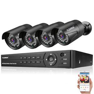 FLOUREON 8CH 1080P Überwachungskamera CCTV DVR System 4PCS 3000TVL Außen Kamera