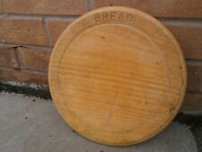 OLD VINTAGE EDWARDIAN SYCAMORE ? WOOD ROUND EDGED KITCHEN BREAD CHOPPING BOARD