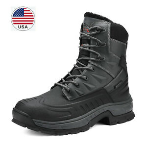 Men's Winter Snow Boots Shoes Work Boots Insulated Waterproof Rubber Sole Boots