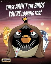 Angry Birds Star Wars Droids Poster Official Evil Pigs Jedi 40 x 50cm New MP1509