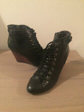 Synthetic Leather Wedge Boots Women's NEXT