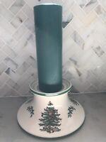 Spode Christmas Tree Pillar Candle Holder | England