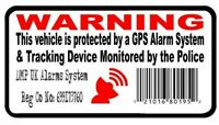 4 x GPS Tracking Barcode Security Alarm Warning Stickers Car Motorbike Van