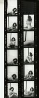 EXOTIC  TATTOOED LADY WOMAN  CONTACT SHEET STRIP PHOTOS  - GIRLIE  11 LOT