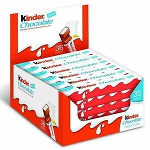 Ferror Kinder Milk Chocolate Box Kids Snack Medium Milky Pack of 36 Bars X 21g