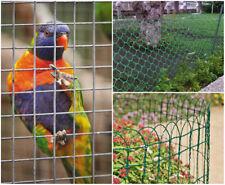 Galvanised Chicken Wire PVC Coated Border Rabbit Hut Mesh Hen Run Netting Coop