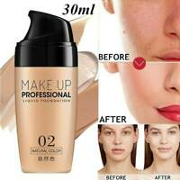 Professional Matte Liquid Skin Foundation Full Coverage Long Lasting Face Makeup