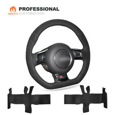 MEWANT Customize DIY Black Suede Steering Wheel Cover Wrap for Audi TT 2008-2015