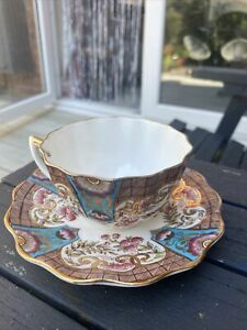 Antique Rare Aynsley Coffee Cup And Saucer Circa 1891