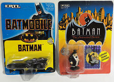 BATMAN : 1989 BATMOBILE & ANIMATED PENGUIN DIE CAST SET MADE BY ERTL (TK) (SC)