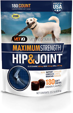 New listing Maximum Strength Hip Joint Supplement Dogs Chicken Flavored 180 Soft Chews New