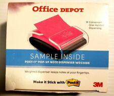 Post It Pop Up Notes Wrap Dispenser 3 X 3 Blackclear Wd330bk