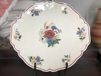 "11 1/2"" Vintage Sarreguemines Agreste Cake Plate Made in France"