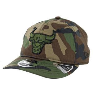 """New Era 9Fifty Chicago Bulls """"Hidden Team"""" Snapback Hat (Woodland Camo) Mens Cap"""