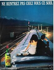 Publicité Advertising 1989 Scotch Whisky J&B