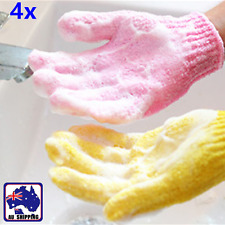 4x Spa Massage Exfoliating Bath Gloves Shower Back Skin Scrub Towel CLOV58119x4