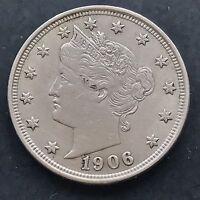 1906 Liberty Head V Nickel 5c  Better Grade 4878