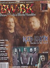 #77 BW & BK vintage import music magazine - ICED EARTH -CANNIBAL CORPSE -DEICIDE