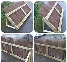 Wooden Horse Jumps Brush Fence. Jump, cross country jump