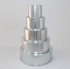 """Round Cake Baking Tins - 5"""" Deep - Individual Tins - Size 6"""""""