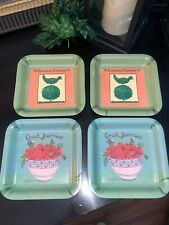 Delta Group Designs Fruit Harvest Graphic Melamine Made in Italy Tray 6""