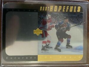 1996-97 UPPER DECK HART HOPEFULS JOE SAKIC GOLD ACETATE SP /100 AVALANCHE