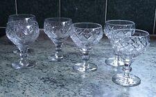 More details for 6 vintage webb corbett liqueur/cocktail glasses 3 rolleston and 3 georgian