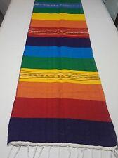 Mexican Serape Rainbow Table Runner Fiesta Woven Tablerunner