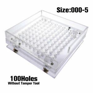 100 Holes Size 00 1 2 3 4 5 Capsules Maker Filler Capsules Fillings Machine Tool