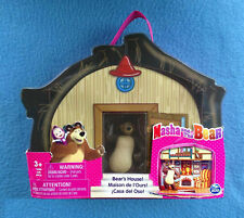 BEAR'S HOUSE WITH BEAR 4 INCH FIGURE MASHA AND THE BEAR SPIN MASTER