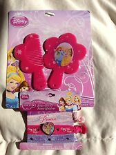 DIsney Princess Bracelet Comb Mirror & Hair Pony Holders Set