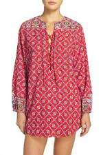 Nanette Lepore Women's Pretty Tough Cover-Up Tunic, Ruby, XS     MSRP:156.00