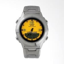 Casio Ef-s12d-9a Edifice Stainless Steel Tough Solar Analog Digital Watch Yellow