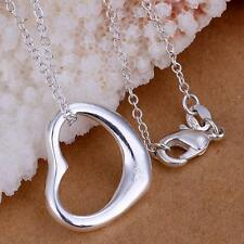 New Fashion Silver Charm Heart love Beautiful Necklace cute women lady jewelry