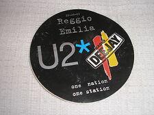 U2 CONCERTO 20-9-1997 REGGIO EMILIA ADESIVO SELF ADHESIVE RADIO DEEJEY