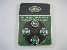 Land Range Rover Green N2 Nitrogen Tire / Wheel Valve Stem Caps Set of 4 Genuine