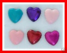 24 x 5mm HEART SHAPED BRADS -Great for Cards Scrapbooking Invitations NEW Bulk