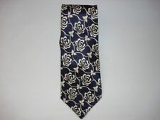 navy blue flower scribble neck tie new