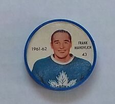 Shirriff /Salada coins hockey 1961-62 # 43 Frank Mahovlich Toronto Maple Leafs 2