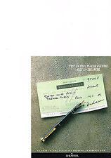 PUBLICITE ADVERTISING   1988   SHEAFFER    stylo plume garanti à vie