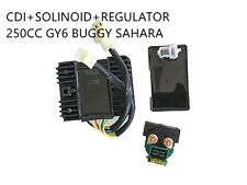 Starter Solinoid Relay + CDI UNIT +Regulator GY6/CH/CF250 Buggy Sahara Kandi