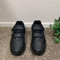 BROOKS Addiction Walker Mens Athletic Walking Leather Black Shoes Size 8 D
