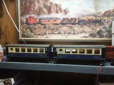 LGB No 3097 & 3098 Voiture Salon Pullman Orient Express Passenger Cars - G Scale